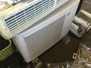 岡山県総社市総社でのエアコン取り外しからエアコン回収、処分