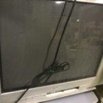 笠岡市で回収したブラウン管テレビ
