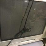 浅口郡里庄町で回収したブラウン管テレビ
