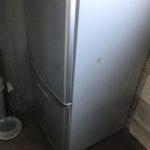 英田郡西粟倉村で回収した冷蔵庫