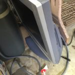 新見市で回収した液晶テレビ