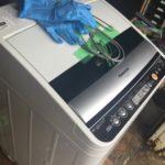 瀬戸内市で回収した洗濯機