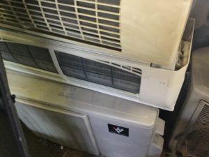 瀬戸内市での不用品回収、粗大ゴミの片付け回収したエアコン