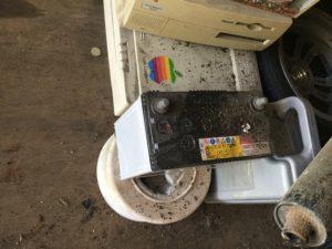 瀬戸内市での不用品回収、粗大ゴミの片付け回収したバッテリー