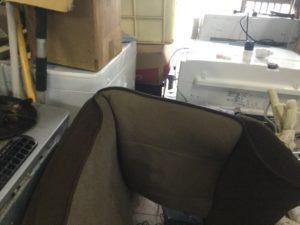 井原市での不用品回収、粗大ゴミの片付け回収した座椅子