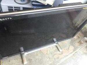 岡山県津山市で回収した液晶テレビ