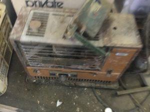 岡山市北区での不用品回収、粗大ゴミの片付け回収したストーブ