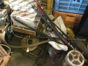 岡山市北区での不用品回収、粗大ゴミの片付け回収した釣り具