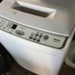 久米郡美咲町で回収した洗濯機