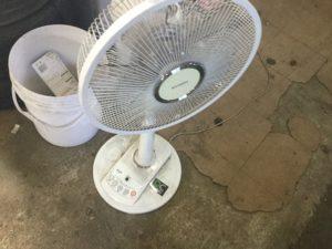 岡山市北区での不用品回収、粗大ゴミの片付け回収した扇風機