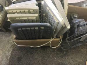 岡山市で回収したキーボード