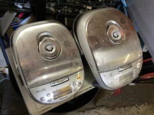 岡山市南区での不用品回収、粗大ゴミの片付け回収した炊飯器