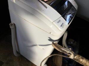 岡山市南区での不用品回収、粗大ゴミの片付け回収した洗濯機