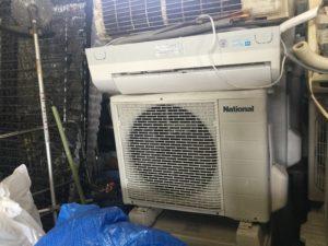 岡山市南区での不用品回収、粗大ゴミの片付け回収したエアコン一式