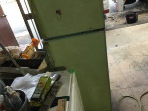 岡山市南区での不用品回収、粗大ゴミの片付け回収した冷蔵庫