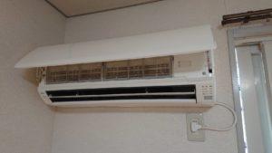 岡山県備前市でのエアコン取り外しからエアコン回収、処分