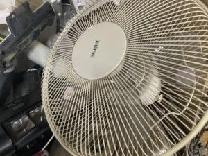 岡山県笠岡市で回収した扇風機