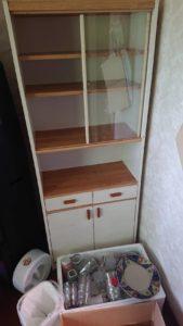 岡山市で回収した食器棚