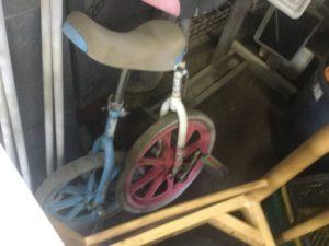 総社市総社での不用品回収した一輪車