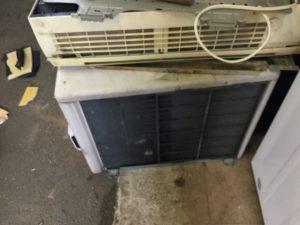 岡山県倉敷市でのエアコン取り外しからエアコン回収