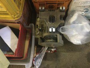 岡山市北区での不用品回収、粗大ゴミの片付け回収したミシンのモーター