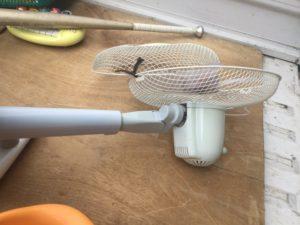 岡山市で回収した扇風機