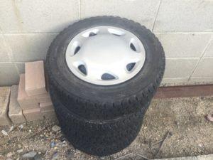 備前市伊部で不用品回収したタイヤ