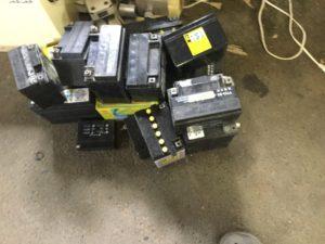 備前市伊部で不用品回収したバッテリー