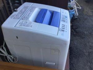 岡山県赤磐市での不用品回収、粗大ゴミの片付け回収した洗濯機