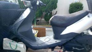 岡山市で回収した原付バイク