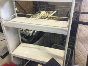 岡山市北区での不用品回収したスチールラック