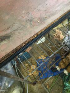 総社市総社での不用品回収、粗大ゴミの片付け回収した机