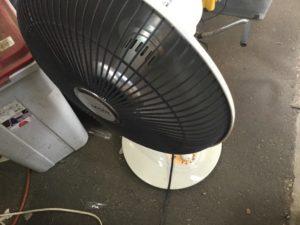 岡山市で回収したハロゲンヒーター