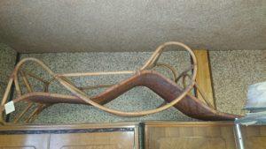 岡山市で回収した籐の椅子