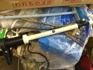 岡山市北区での不用品回収した空気入れ