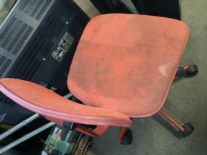 岡山県岡山市で回収した回転椅子