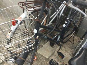浅口市鴨方での不用品回収、粗大ゴミの片付け回収した自転車