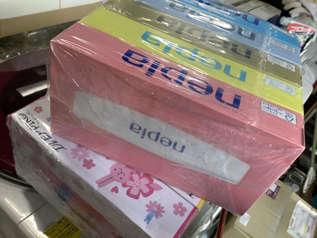 岡山市北区で回収したBOXティッシュ