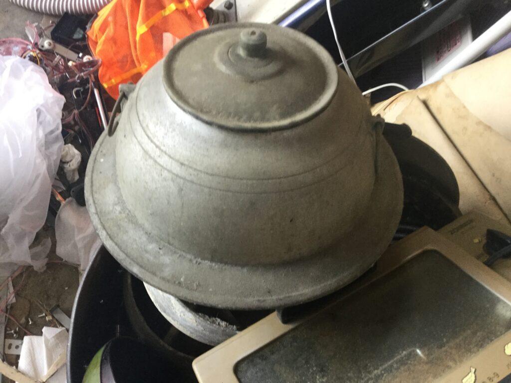 岡山市で回収した茶釜