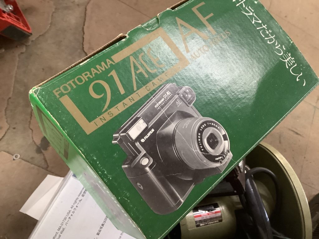 岡山市南区で回収したインスタントカメラ