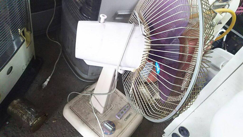 総社市で回収した扇風機
