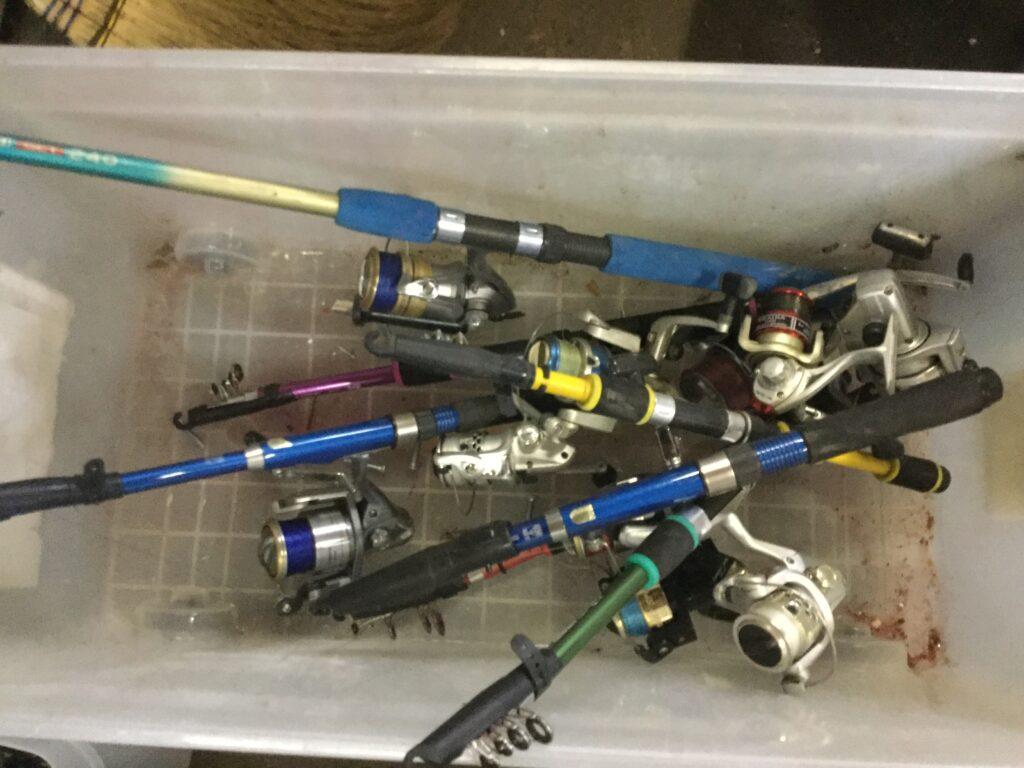 岡山市南区で回収した釣竿