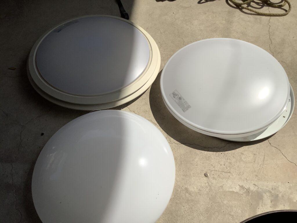 岡山市内で回収した照明器具