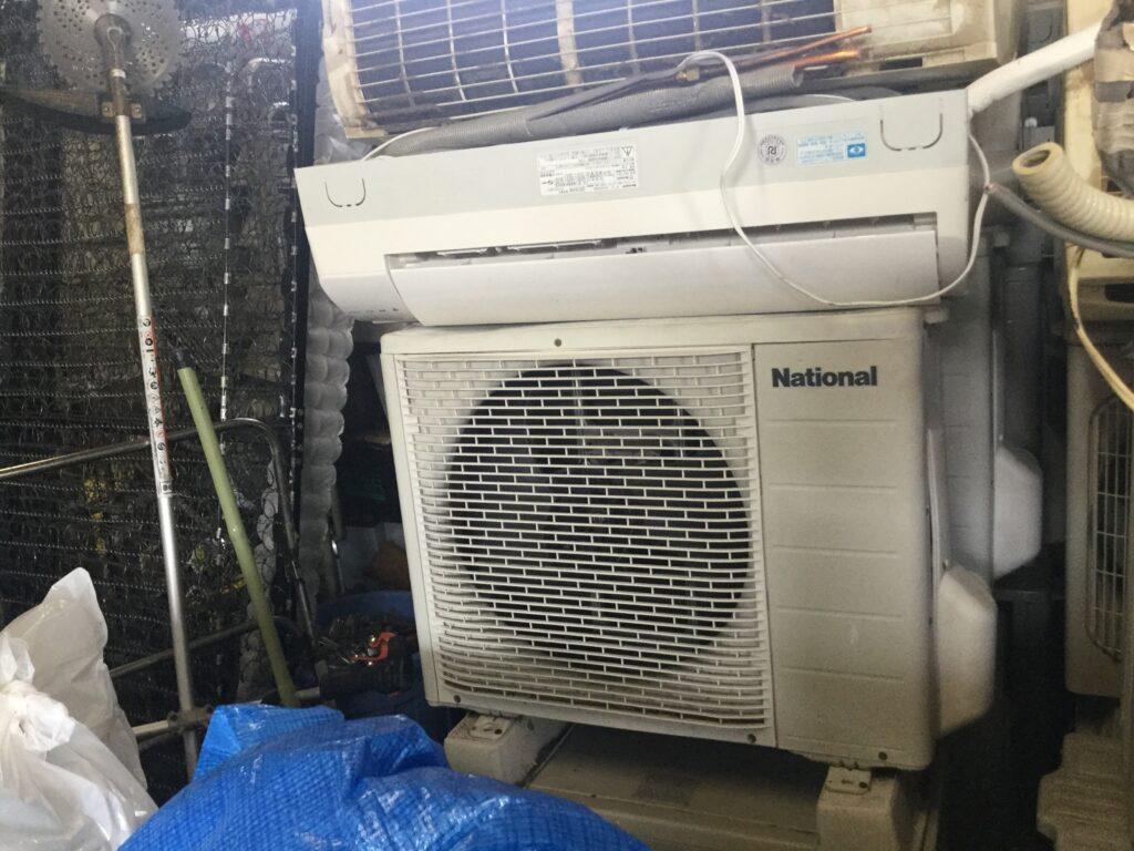 岡山県高梁市でのエアコン取り外しからエアコン無料回収