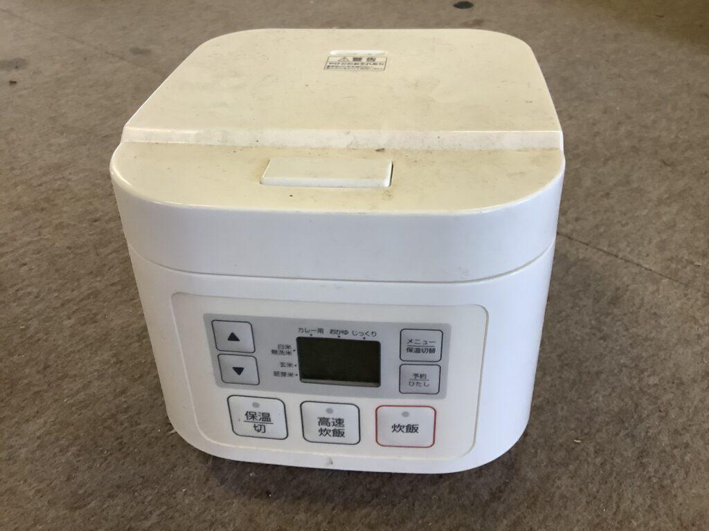 井原市で回収した炊飯器