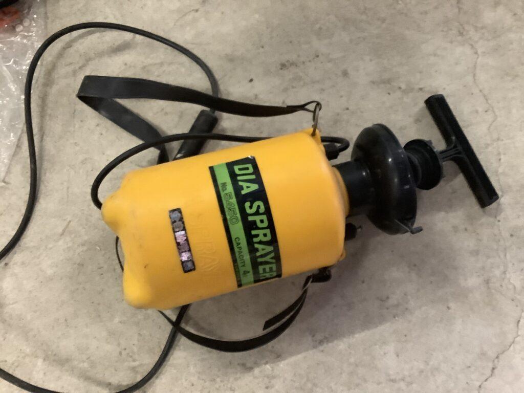 岡山市内で回収した噴霧器
