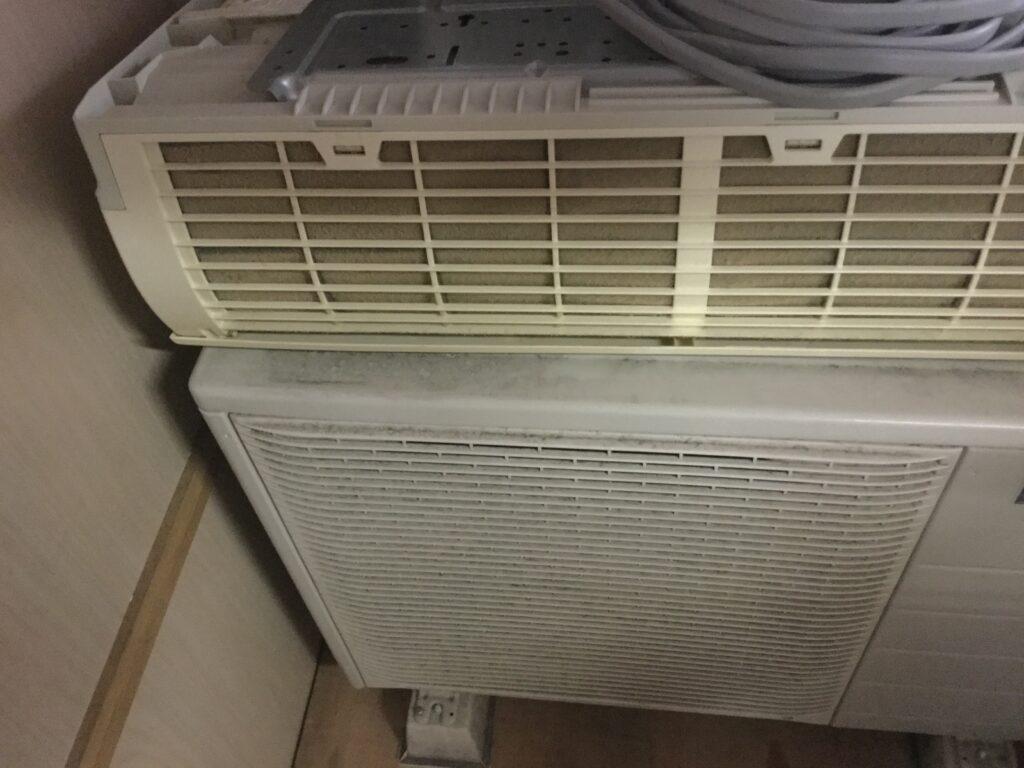岡山県井原市でのエアコン取り外しからエアコン回収