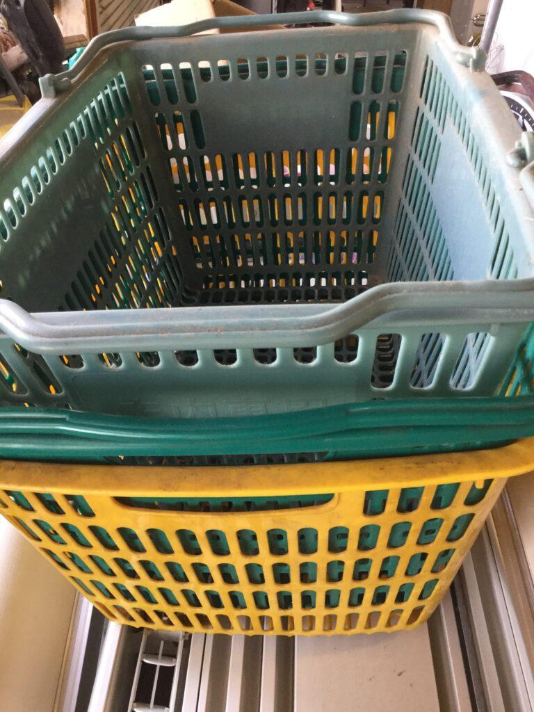 赤磐市で回収した買い物カゴ