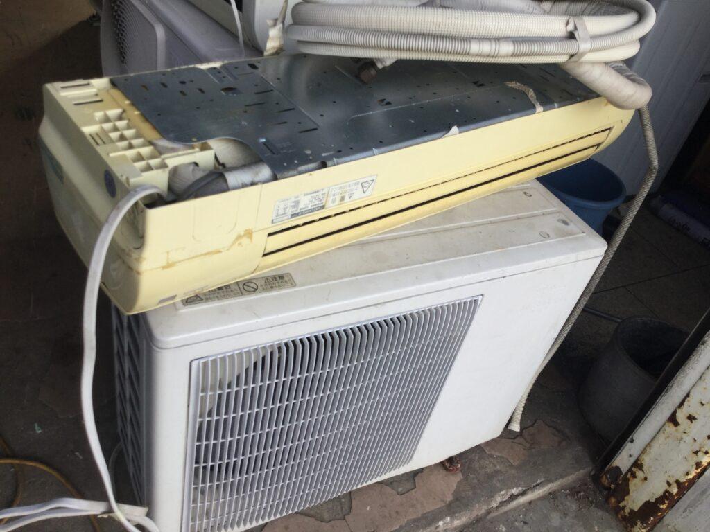 岡山県高梁市でのエアコン無料回収