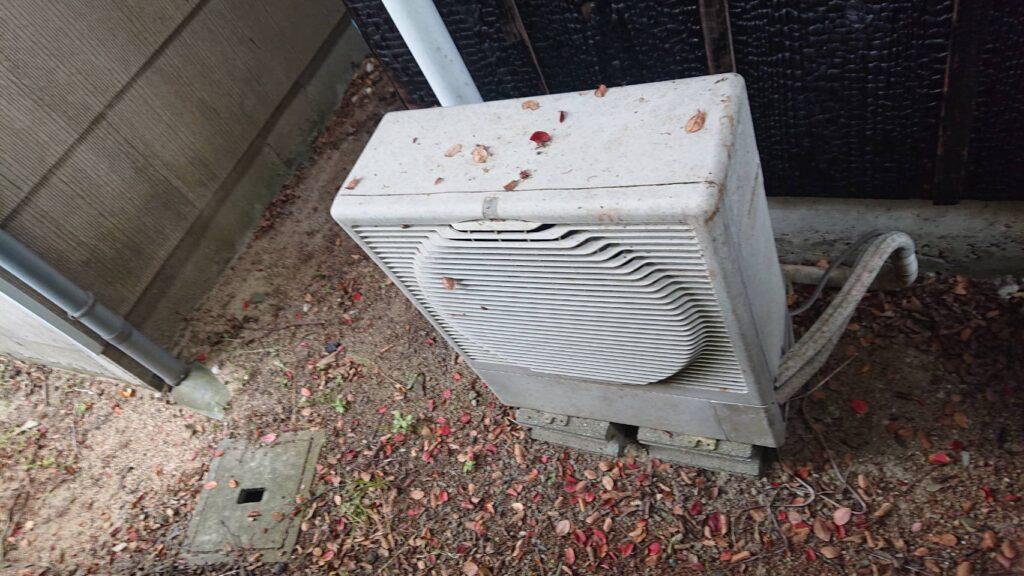 笠岡市でのエアコン取り外しからエアコン回収